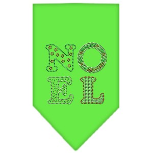 Noel Rhinestone Bandana Lime Green Small